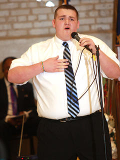 Matthew Simmons of the Young Men of Faith.
