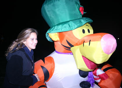 Emma Grace Trollinger, 14, of Fairfax, Va., found Tigger quite amusing.