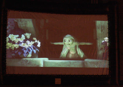 "This year's feature film was ""Tangled""."
