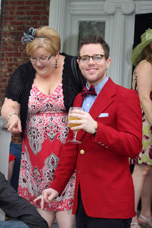 Sean Wesley Holleran was one of the best dressed at the party.