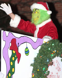 The Grinch returned again for this year's parade.