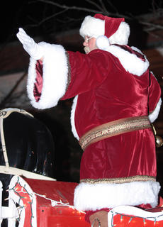 Santa Claus was once again the grand marshal of the Dickens Christmas parade.