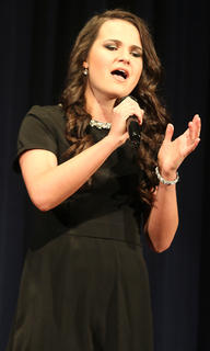 2017 Washington County Distinguished Young Woman Elizabeth Medley sings at the variety show Friday, Dec. 9.