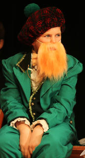 "Charlie Mattingly plays a Leprechaun in ""Holiday Celebrities."""