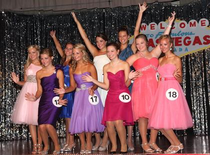 Participants 10 through 18 in the 2013 Marion County Distinguished Young Woman program were part of the Glamour group.