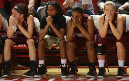 The Lady Knights were disappointed after falling to Manual, 58-54, in the state championship.