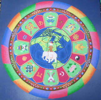 As of Friday morning, here is what the mandala looked like.