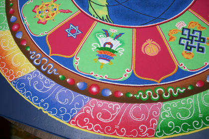 A view of some of the details within the sand painting.