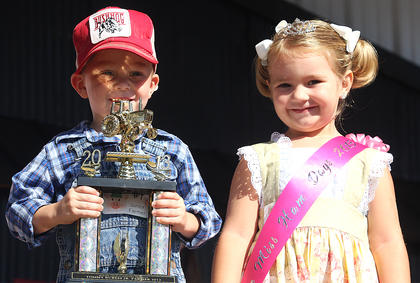 Pictured is the 2013 Junior Farmer John Richard Edelen V and Little Miss Ham Days Raini Sidebottom.
