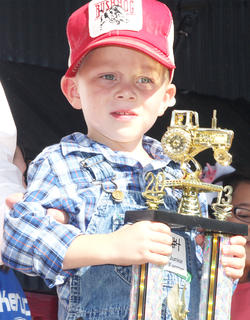 Participant No. 4, John Richard Edelen V, is the son of Candace Goode and John Edelen. He won the Junior Farmer contest.