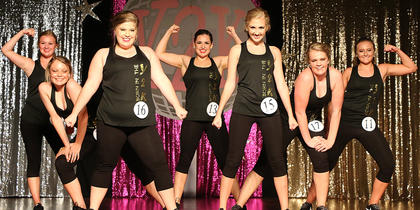 Pictured are the 'NSYNC' Girls. They are, front, from left, Tatum Riggs and Caroline Piekarski; second row from left, Riley Wayland and Hannah Shoemake; back row from left, are Jane Palagi, Harmony Lanham and Elizabeth Hughes.