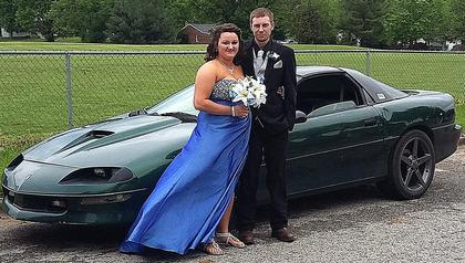 Pictured is Davis Garrett and his girlfriend Brittany Fowler.