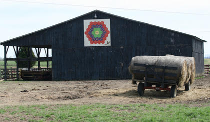 This pattern hangs on a barn on Danny Fenwick's farm on Wimsatt Road.