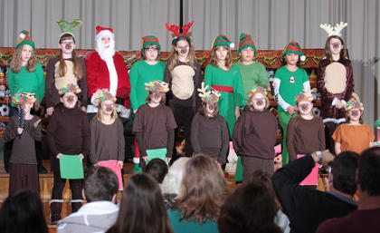 The Glasscock Elementary School Drama Club got in the Christmas spirit with their presentation of &quot;Randy, the Red-Horned Reinmoose&quot; on Dec. 13.