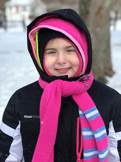 Ella Price, 4, of Lebanon is all bundled up and ready to play in the snow in Raywick.