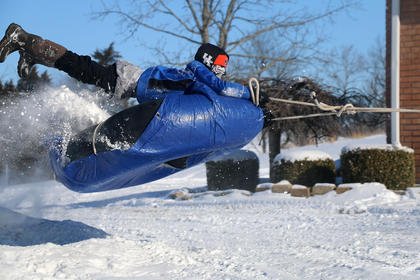 This photo of Baylor Murphy snow tubing was taken by Trey Murphy.