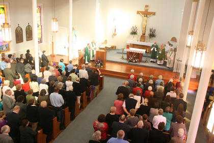 The church was full for the anniversary celebration