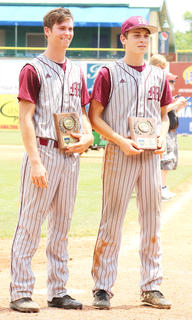 Andrew Spalding (left) and Luke Thomas (right) were named to the All-Tournament team for Marion County.