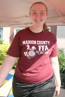 MCHS student Michelle Thompson puts in her time on the treadmill.