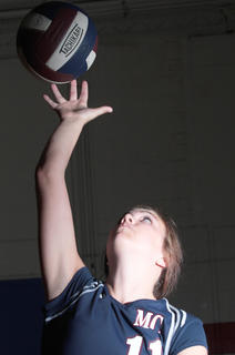 Shelby Mattingly is the volleyball player of the year.