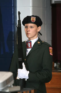 Sasha Hargis is part of the MCHS JROTC Color Guard.