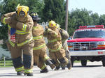 Tim Fowler Firefighter Challenge at Mark Mattingly Memorial Loretto Homecoming