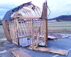 "<div class=""source"">Stephen Lega</div><div class=""image-desc"">The FFA and 4-H ham house was destroyed at the extension office was destroyed by a lightning strike Monday.</div><div class=""buy-pic""><a href=""/photo_select/26205"">Buy this photo</a></div>"