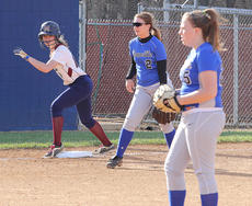 """<div class=""""source"""">Nick Schrager</div><div class=""""image-desc"""">Senior outfielder Colleen Rakes keeps an eye on the pitcher in Marion County's April 10 win over Danville.</div><div class=""""buy-pic""""><a href=""""/photo_select/33775"""">Buy this photo</a></div>"""