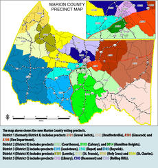 """<div class=""""source"""">mrobinson</div><div class=""""image-desc"""">In recent years, Marion County approved changes to its magisterial districts and its precincts. The map above show the current district and precincts boundaries.</div><div class=""""buy-pic""""></div>"""