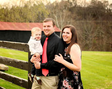 """<div class=""""source"""">provided</div><div class=""""image-desc"""">Pictured are Caleb Clark, his wife Amelia, and their 18-month-old son, Cason.</div><div class=""""buy-pic""""></div>"""