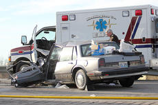 """<div class=""""source"""">The Springfield Sun</div><div class=""""image-desc"""">Fern Cooley of Lebanon was driving a 1998 maroon Cavalier southbound on Springfield Highway. Her daughter, Carrie Mann, was a passenger in the vehicle. Judy O. Filiatreau of Springfield was driving north in a 1991 Oldsmobile when she crossed the center line and struck a southbound 1995 Chevy truck, being driven by William R. Bishop of Campbellsville. According to the accident report, Filiatreau then re-entered the northbound lane, striking the Cavalier being driven by Cooley. </div><div class=""""buy-pic""""></div>"""