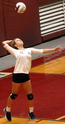 """<div class=""""source"""">Gerard Flanagan</div><div class=""""image-desc"""">Tori Thomas serves the ball in Marion County's win over Campbellsville on Thursday at the Roby Dome.</div><div class=""""buy-pic""""><a href=""""/photo_select/63707"""">Buy this photo</a></div>"""
