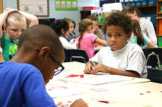 "<div class=""source"">Jason Morrow</div><div class=""image-desc"">Nolan Luckett does a learning activity with other students in Davette Mays' class at Lebanon Elementary.</div><div class=""buy-pic""><a href=""/photo_select/52489"">Buy this photo</a></div>"