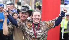 """<div class=""""source""""></div><div class=""""image-desc"""">The Turtleman Trek 5K will be held once again in Lebanon next year. Pictured is Abby Miles posing with the Turtleman in 2014.</div><div class=""""buy-pic""""><a href=""""/photo_select/45663"""">Buy this photo</a></div>"""