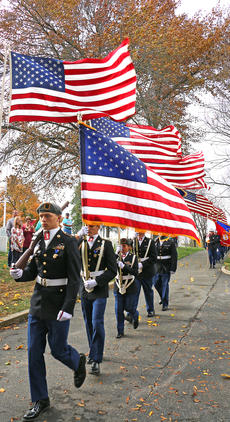 """<div class=""""source"""">Stevie Lowery</div><div class=""""image-desc"""">The Marion County High School R.O.T.C. and the Marion County Veterans Honor Guard provided the color guard for the presentation and retirement of the colors.</div><div class=""""buy-pic""""><a href=""""/photo_select/58724"""">Buy this photo</a></div>"""