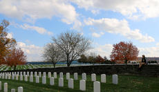 """<div class=""""source"""">Stevie Lowery</div><div class=""""image-desc"""">Autumn leaves, sunny skies and a fall breeze made the Lebanon National Cemetery even more beautiful during the Veterans Day ceremony Sunday afternoon. The Lebanon National Cemetery was established as a National Cemetery 150 years ago in 1867. Today, there are more than 5,700 internments at the cemetery.</div><div class=""""buy-pic""""><a href=""""/photo_select/58727"""">Buy this photo</a></div>"""
