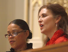 """<div class=""""source"""">Stephen Lega</div><div class=""""image-desc"""">Angela Nance and Colette Delaney sing solos on """"It was a Starry Night.""""  </div><div class=""""buy-pic""""><a href=""""/photo_select/31639"""">Buy this photo</a></div>"""