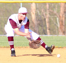 "<div class=""source"">Gerard Flanagan</div><div class=""image-desc"">Kelly Mattingly fields a ground ball in Marion County's 5-2 win over Taylor County on April 9 at Dave Hourigan Field. </div><div class=""buy-pic""><a href=""/photo_select/60665"">Buy this photo</a></div>"
