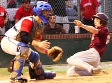 "<div class=""source"">Jessica Veatch</div><div class=""image-desc"">Freshman pinch runner Lincoln Haydon slides safely into home after Devin Spalding hit an RBI single to knot the score at 1-1 in the district game against Adair County on Tuesday of last week. </div><div class=""buy-pic""><a href=""/photo_select/20198"">Buy this photo</a></div>"