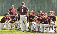 "<div class=""source"">Jessica Veatch</div><div class=""image-desc"">Head Coach Chad Spalding talks to a disappointed Knights' baseball team after the first round 20th district tournament loss to Adair County on Tuesday of last week.</div><div class=""buy-pic""><a href=""/photo_select/20195"">Buy this photo</a></div>"