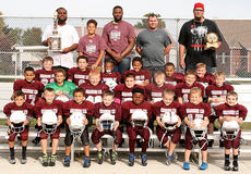 "<div class=""source""></div><div class=""image-desc"">The Marion County 7-8-year-old Youth League Football Team won the Root Beer Barrel Bowl back on Aug. 26-27 in Springfield. The team also played in the Grid Iron Bowl on Sept. 30 and Oct. 1 in Campbellsville. The team will be playing in the state tournament in Owensboro on Nov. 18-19. Pictured, front row from left, are Collin Rakes, Nathan Shuck, Gabriel Washington, Trevor Owen, Cordell Hilliard, Bryon Fowler, Aiden Knopp and Brayden Wohner; second row from left, are Cordelle Douglas, Elijah Washington, Gage Leedom, George Lawson, Xavier Jacobs, McClain Osbourne and Wyatt Thompson; third row from left, are Izaac Leake, Zachary Adams, Ajacetin Brown, Olivia Yocum, Trinden Sickles and Carter Drye; back row from left, are assistant coaches Wayne Sickles, Christopher Yocum Jr, Head Coach Christopher ""TT"" Yocum, assistant coaches BJ Thompson and Ryan Lawson. Not pictured are Tylan Spalding and Brayson Phillips.</div><div class=""buy-pic""></div>"