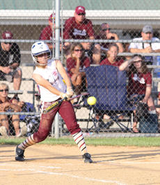 "<div class=""source"">Nick Schrager</div><div class=""image-desc"">Cassidy Logsdon smashes the ball for a hit in the Marion County's win over Clay County in the state softball tournament. </div><div class=""buy-pic""><a href=""/photo_select/28357"">Buy this photo</a></div>"