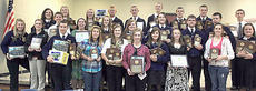 """<div class=""""source"""">Photo submitted</div><div class=""""image-desc"""">More than 250 FFA members, parents and guests were in attendance at the 2010-11 Marion County FFA Awards Banquet April 21 to celebrate the numerous achievements of FFA members over the course of the past school year. </div><div class=""""buy-pic""""></div>"""