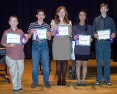 "<div class=""source"">Photo submitted</div><div class=""image-desc"">There were 138 students who participated in the Keyboard Festival, ranging in age from elementary grades through high school.  Besides performing for adjudication, many students took part in sight-reading and aural examinations, and were tested at their various levels of music theory as well. Teachers represented at the festival, came from different parts of central Kentucky.   Students who received superior ratings were recommended to perform at the 2012 KMTA Honor Recital, which will be held at Morehead State University. Pictured are students from the Davis Music Studio, who received superior ratings at the CKMTA Keyboard Festival: Myles Murrell, Jacob VanMeter, Faith VanMeter, Chloe Cheng, and Stewart Graham.  Not in the picture are Emma Cox and John Orberson, who also received superior ratings.  All study piano with Judith Davis.</div><div class=""buy-pic""></div>"