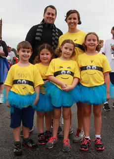 """<div class=""""source"""">Stephen Lega</div><div class=""""image-desc"""">The best team theme was inspired by the Despicable Me movies. Front row (from left): Aiden Kelley, Peyton Ervin, Kaileigh Ervin, and Hailey Kelley. Back: Chris Kelley and Amber Ervin.</div><div class=""""buy-pic""""><a href=""""/photo_select/28736"""">Buy this photo</a></div>"""