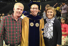 """<div class=""""source"""">Photo submitted</div><div class=""""image-desc"""">Eric Marks, son of Danny and Pam Marks, received a Ph.D. degree in civil and environmental engineering from Georgia Tech on May 5. Marks will continue his career in research and teaching civil and construction engineering at the University of Alabama this fall. </div><div class=""""buy-pic""""></div>"""