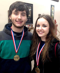 """<div class=""""source"""">Photo submitted</div><div class=""""image-desc"""">D.J. Price and Adria Whitfill placed first in mathematics and second in composition at Regional Governor's Cup Academic Competition recently. Both advanced to state competition in Louisville.</div><div class=""""buy-pic""""></div>"""