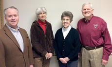 "<div class=""source"">Photo submitted</div><div class=""image-desc"">The 2014 officers of New Pioneers for a Sustainable Future are (from left) President James Spragens of Lebanon, Treasurer Dr. Sue Billings of Springfield, Secretary Joyce Minkler of Loretto, and Vice President Jim Silliman of Bardstown. New Pioneers is a community-based non-profit founded in Springfield in 2005 to promote sustainable thinking and sustainable development. For more information, check www.newpioneersfsf.org or call 859-336-5070. </div><div class=""buy-pic""></div>"