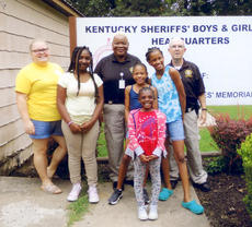 """<div class=""""source"""">Photo submitted</div><div class=""""image-desc"""">Kentucky Sheriffs' Boys and Girls Ranch hosted girl campers the week of July 14. Pictured are campers from Marion County, Milan English, Ja'shyla Edelen, Patience Staples and Chaseai English. Also pictured are Marion County Court Security Officers Jane Bell and Hayden Johnson and ranch coordinator Kayla Quarles. For more information about the Boys & Girls Ranch or how you can invest in a child's life and help build Kentucky's youth, call the ranch at 270-362-8660. </div><div class=""""buy-pic""""></div>"""