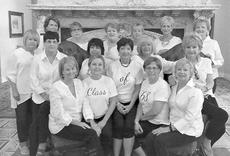 """<div class=""""source""""></div><div class=""""image-desc"""">St. Catharine Academy graduating class of 1968 recently celebrated 50 years of friendship at French Lick/West Baden Resort in French Lick, Indiana. Pictured are, back row, from left, Mary Sue Clements Lee, Rita Wright Clark, Pat Hamilton Willett, Vickie Carrico Spalding, Rosemary Benedict Smith, and Susan Edelen Jaeschke; middle row, Barbara Hamilton Riggs, Roddy Mulligan Thomas, Ginny Hamilton Lyons, Joy Buckler Hindman, and Suzie Bennett; front row, Haney Peters Thomas, Rose Marylyn Medley Boone, Elaine Hall Boone, Lally Browning Jennings, and Sara Greenwell Abell. Also attending but not pictured were Ann Mudd Duffy and Lucy Blandford Brown. </div><div class=""""buy-pic""""></div>"""